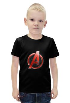 """Футболка с полной запечаткой для мальчиков """"Мстители (The Avengers)"""" - мстители, железный человек, тор, эра альтрона, воитель"""