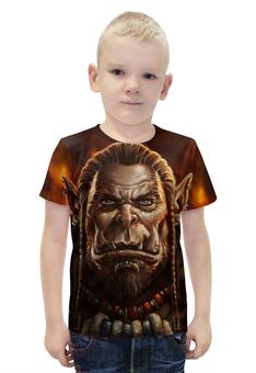 """Футболка с полной запечаткой для мальчиков """"World of Warcraft"""" - рисунок, wow, орк"""