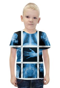 """Футболка с полной запечаткой для мальчиков """"X-Ray Of Bones"""" - арт, стиль, дизайн, фотография"""
