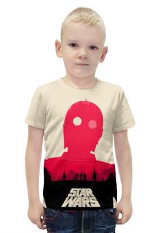 """Футболка с полной запечаткой для мальчиков """"C-3PO"""" - star wars, йода, дарт вейдер, лея органа"""