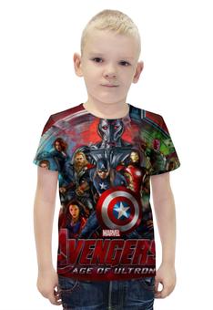 """Футболка с полной запечаткой для мальчиков """"Мстители , (Avengers)"""" - мстители, avengers"""
