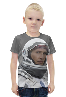 """Футболка с полной запечаткой для мальчиков """"Макконахи"""" - планета, космос, земля, интерстеллар, interstellar"""
