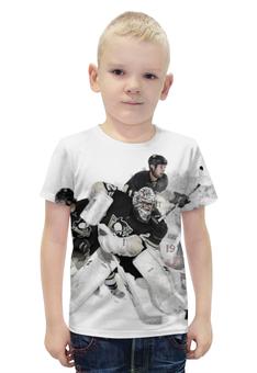 """Футболка с полной запечаткой для мальчиков """"Хоккей / Hockey"""" - спорт, хоккей, шайба, клюшка"""