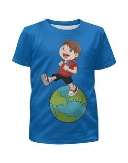 """Футболка с полной запечаткой для мальчиков """"Школа"""" - мальчик, школа, школьник"""