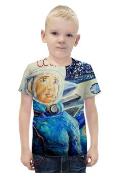 """Футболка с полной запечаткой для мальчиков """"Космос СССР"""" - ручная работа, детский рисунок, от детей, детская работа"""