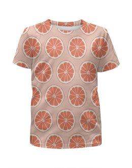 """Футболка с полной запечаткой для мальчиков """"Апельсины"""" - фрукты, апельсин, лето, узор, ягоды"""