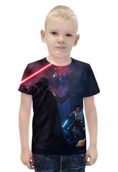 """Футболка с полной запечаткой для мальчиков """"Star Wars (Звездные Войны)"""" - darth vader, anakin skywalker"""