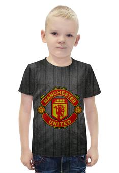 """Футболка с полной запечаткой для мальчиков """"Манчестер Юнайтед (МЮ)"""" - манчестер юнайтед, manchester united, мю"""