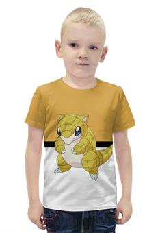 """Футболка с полной запечаткой для мальчиков """"Покемон Сэндшру"""" - мышь, pokemon, покемон, sandshrew, сэндшру"""