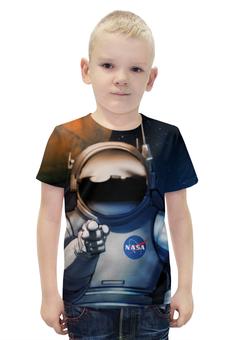 """Футболка с полной запечаткой для мальчиков """"We need you!"""" - космос, nasa, наса, наука, астроном"""