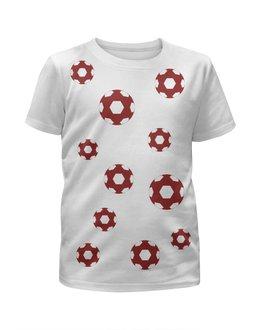 """Футболка с полной запечаткой для мальчиков """"красный мяч"""" - детская, купить, для мальчика, футболку"""