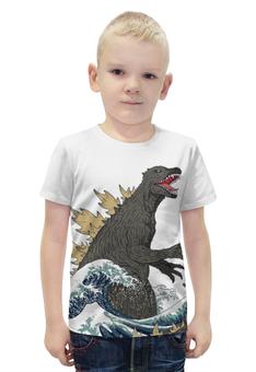 """Футболка с полной запечаткой для мальчиков """"Годзилла"""" - динозавр, годзилла, годзила"""
