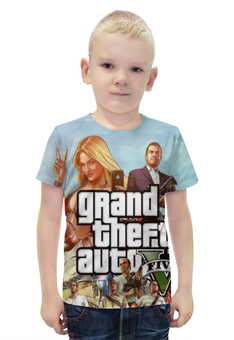 """Футболка с полной запечаткой для мальчиков """"Grand Theft Auto V"""" - gta5, gta v"""