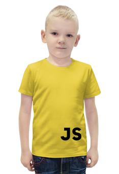 """Футболка с полной запечаткой для мальчиков """"Javascript"""" - javascript, программирование, js"""