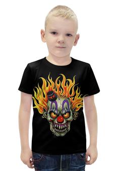 """Футболка с полной запечаткой для мальчиков """"Evil Clown"""" - skull, череп, клоун, evil, clowm"""