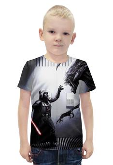 """Футболка с полной запечаткой для мальчиков """"Star wars Go Darth!"""" - прикол, юмор, чужой, звездные войны, дарт вейдер"""