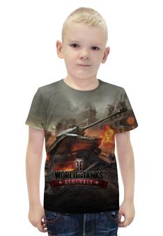 """Футболка с полной запечаткой для мальчиков """"Мир танков"""" - война, world of tanks, танки, wot"""