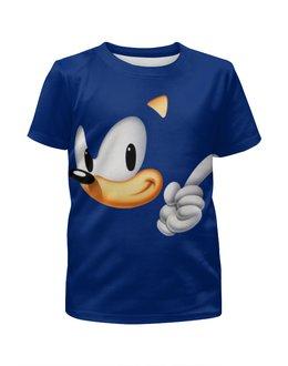 """Футболка с полной запечаткой для мальчиков """"Sonic"""" - ёжик"""