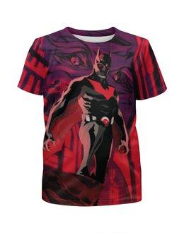 """Футболка с полной запечаткой для мальчиков """"Batman Beyond / Бэтмен Будущего"""" - бэтмен, batman beyond, batman, комиксы, dc comics"""