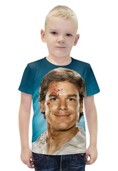 """Футболка с полной запечаткой для мальчиков """"Dexter"""" - dexter, декстер, кровь, убийца, killer"""