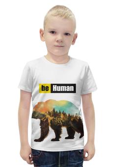 """Футболка с полной запечаткой для мальчиков """"Медведь"""" - животные, медведь, природа, будьчеловеком"""