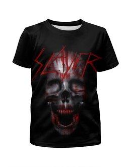 """Футболка с полной запечаткой для мальчиков """"Slayer Band"""" - skull, череп, рок музыка, slayer, thrash metal"""