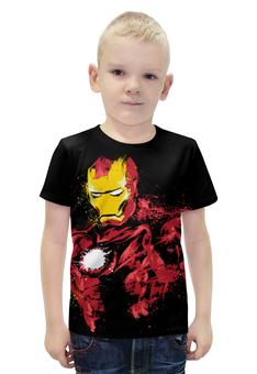 """Футболка с полной запечаткой для мальчиков """"Железный человек"""" - комиксы, супергерои, железный человек, iron man, тони старк"""