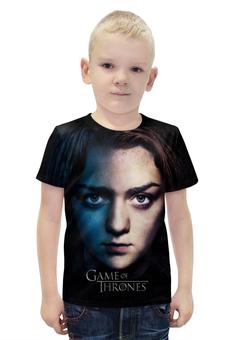 """Футболка с полной запечаткой для мальчиков """"Игра престолов / Game of Thrones"""" - рисунок, кино, сериал, игра престолов, ария старк"""