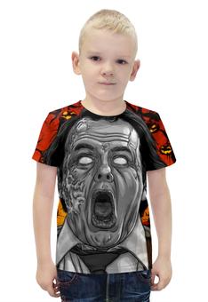 """Футболка с полной запечаткой для мальчиков """"Зомби хеллоуина"""" - хэллоуин, зомби, ужас, монстр"""