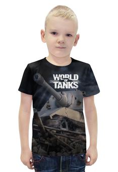 "Футболка с полной запечаткой для мальчиков ""World of Tanks"" - world of tanks, танки, wot"