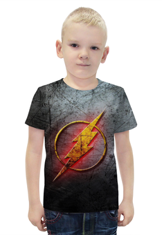 """Футболка с полной запечаткой для мальчиков """"Флэш (The Flash)"""" - flash, молния, флэш"""