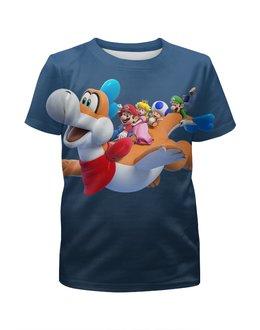 """Футболка с полной запечаткой для мальчиков """"Super Mario"""" - марио и друзья"""