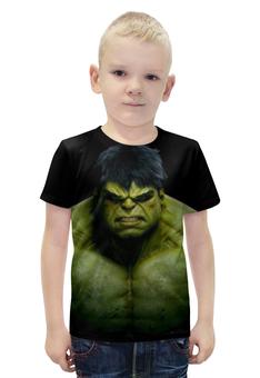"""Футболка с полной запечаткой для мальчиков """"Халк (Мстители)"""" - hulk, мстители, марвел, халк"""