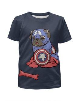 """Футболка с полной запечаткой для мальчиков """"Captain America  (1)"""" - пародия"""