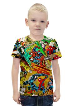 """Футболка с полной запечаткой для мальчиков """"Человек Паук"""" - comics, spider-man"""