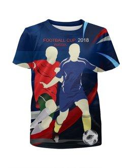 """Футболка с полной запечаткой для мальчиков """" FOOTBALL RUSSIA"""" - футбол, россия, мяч, кремль"""