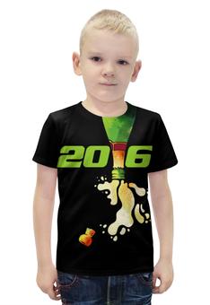 """Футболка с полной запечаткой для мальчиков """"Новый год 2016!"""" - праздник, новый год, 2016, события, денис гесс"""