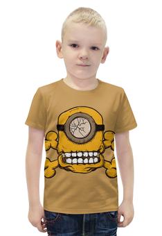 """Футболка с полной запечаткой для мальчиков """"Skull Minion"""" - skull, череп, миньоны, миньон, minion"""