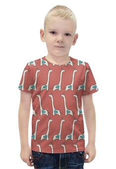 """Футболка с полной запечаткой для мальчиков """"Жирафы"""" - сердце, авторские майки, жираф"""