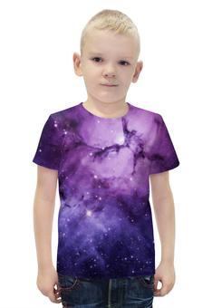 """Футболка с полной запечаткой для мальчиков """"Космос 3D"""" - space, звезды, космос, галактика, ночное небо"""