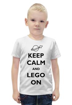 """Футболка с полной запечаткой для мальчиков """"keep calm"""" - keep calm, lego, лего, кип калм, кип кэлм"""