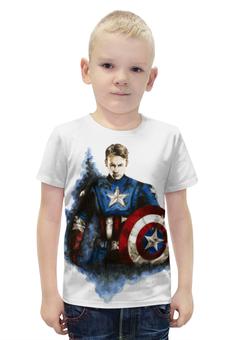 """Футболка с полной запечаткой для мальчиков """"Капитан Америка"""" - капитан америка, captain america, первый мститель, civil war"""
