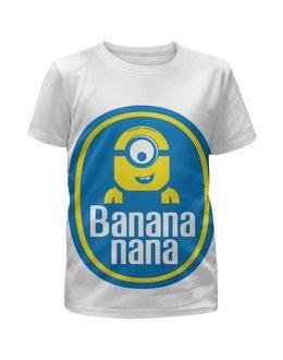 """Футболка с полной запечаткой для мальчиков """"Миньоны (Banana)"""" - banana, миньоны, minion, банана"""