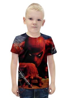 """Футболка с полной запечаткой для мальчиков """"Человек Паук"""" - spider-man"""