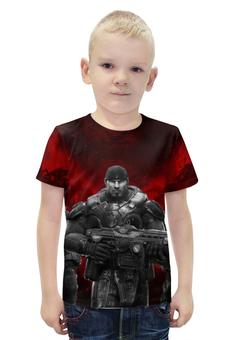 "Футболка с полной запечаткой для мальчиков "" Gears of War"" - gears of war, маркус феникс, доминик сантьяго, деймон бэрд, августус коул"