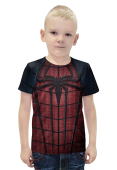 """Футболка с полной запечаткой для мальчиков """"Человек-паук (Spider-man)"""" - spider man, spider-man, марвел, человек-паук"""