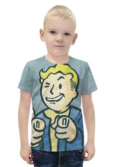 """Футболка с полной запечаткой для мальчиков """"Fallout 13"""" - 13, fallout"""