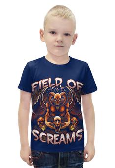 """Футболка с полной запечаткой для мальчиков """"Field of screams """" - ужасы, мистика"""