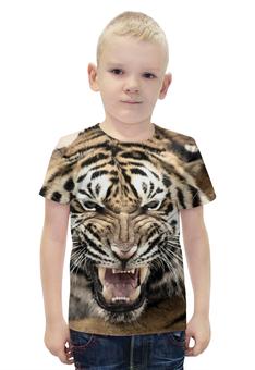 """Футболка с полной запечаткой для мальчиков """"уссурийский тигр 2"""" - tiger, тигр, уссурийские тигры"""