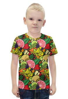 """Футболка с полной запечаткой для мальчиков """"Фруктовая"""" - лето, фрукты, fruits"""